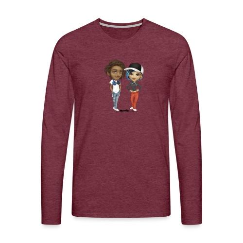 Maya & Noa - Herre premium T-shirt med lange ærmer