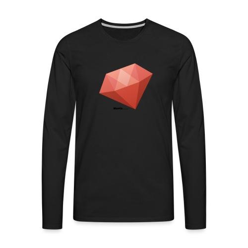 Diamant - Herre premium T-shirt med lange ærmer