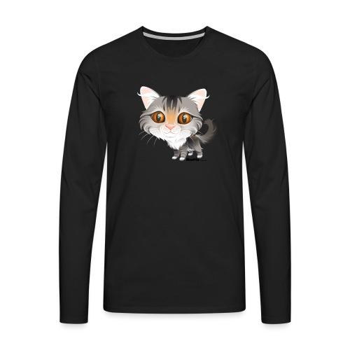 Kat - Herre premium T-shirt med lange ærmer