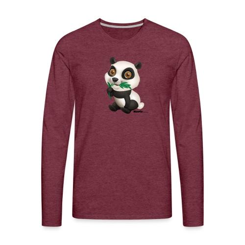 Panda - Herre premium T-shirt med lange ærmer