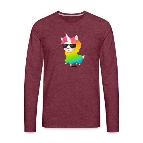 Rainbow animo - Herre premium T-shirt med lange ærmer