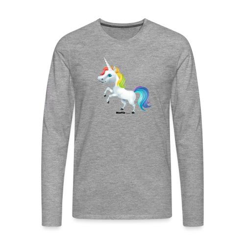 Rainbow enhjørning - Herre premium T-shirt med lange ærmer