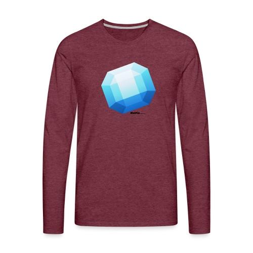 Safir - Herre premium T-shirt med lange ærmer