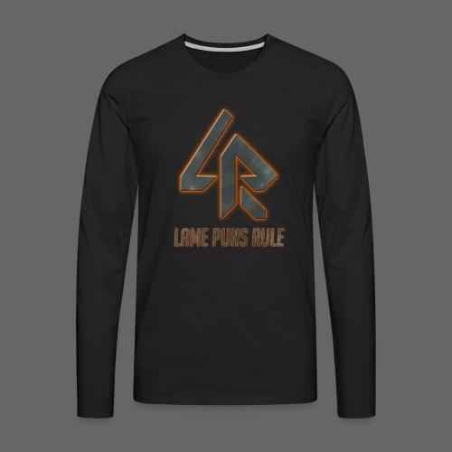 Lame Puns Rule: Logo - Men's Premium Longsleeve Shirt