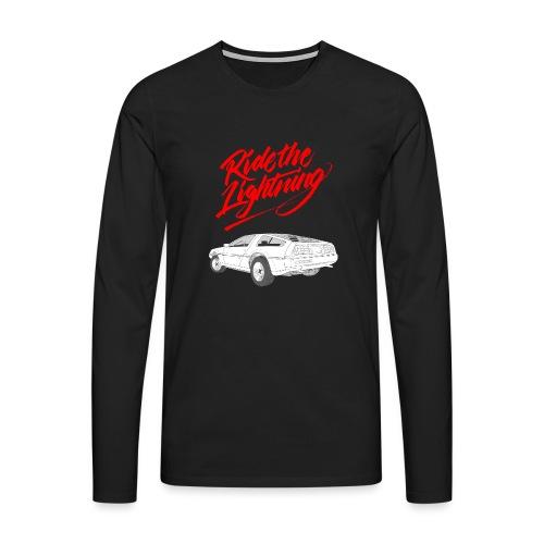 Delorean – Ride The Lightning - Männer Premium Langarmshirt