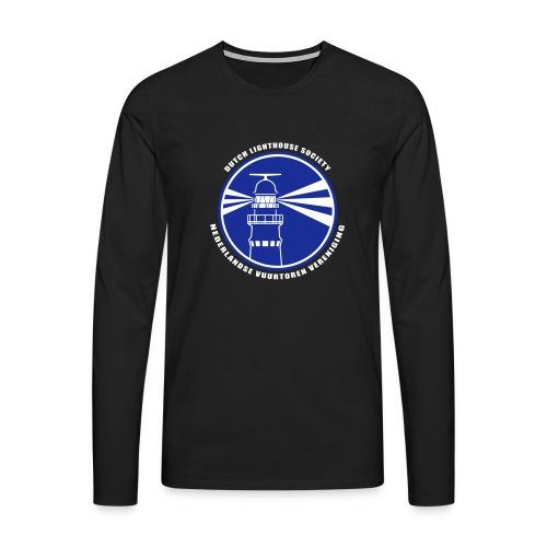 NVV Logo witte letters - Mannen Premium shirt met lange mouwen