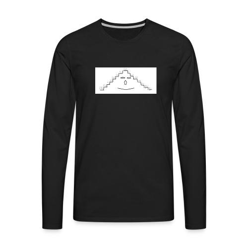 faccina scala - Maglietta Premium a manica lunga da uomo
