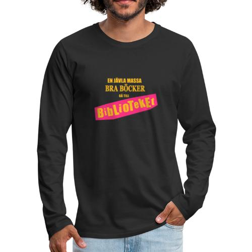 BIBILOTEKET - Långärmad premium-T-shirt herr