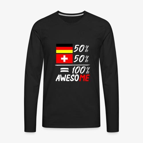 50% Deutsch 50% Schweiz - Männer Premium Langarmshirt