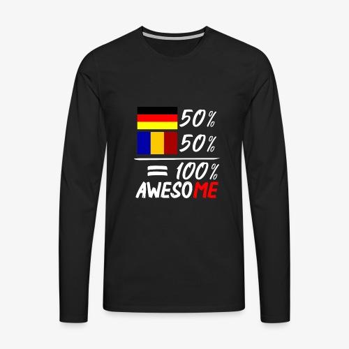 50% Deutsch 50% Rumänisch - Männer Premium Langarmshirt