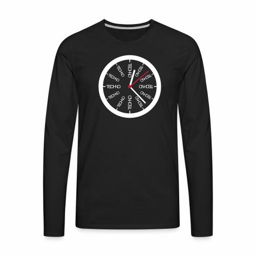 Techno Uhr Clock Rave All Day Clubbing DJ Watch - Männer Premium Langarmshirt