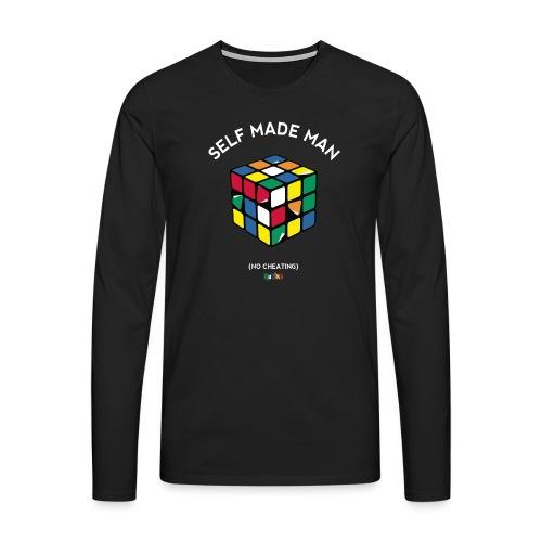 Rubik's Cube Self Made Man No Cheating - Men's Premium Longsleeve Shirt