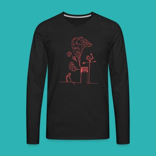 Carta_gatta_pink-png - Maglietta Premium a manica lunga da uomo