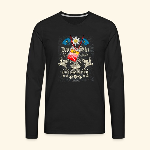 Apres Ski VIP T Shirt - Männer Premium Langarmshirt
