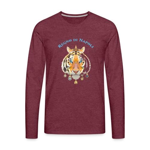 regno di napoli tigre - Maglietta Premium a manica lunga da uomo