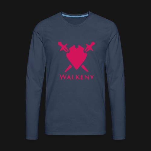 Das Walkeny Logo mit dem Schwert in PINK! - Männer Premium Langarmshirt