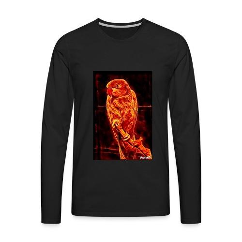 Bird in flames - Miesten premium pitkähihainen t-paita