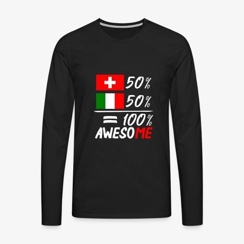 50% Schweiz 50% Italien - Männer Premium Langarmshirt
