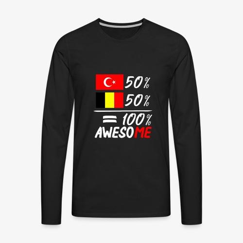 50% Türkisch 50% Belgisch - Männer Premium Langarmshirt