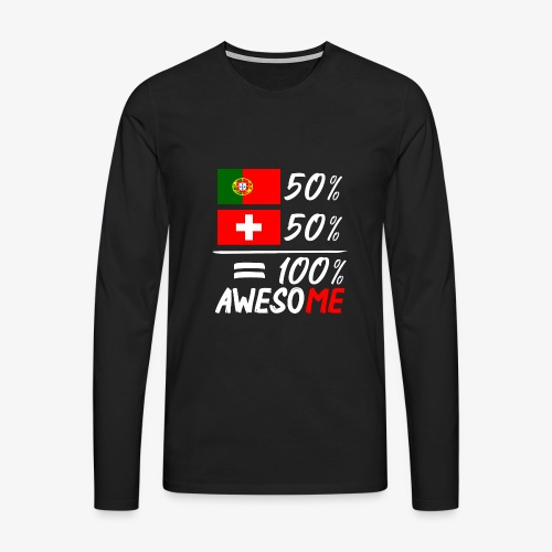 50% Portugal 50% Schweiz - Männer Premium Langarmshirt