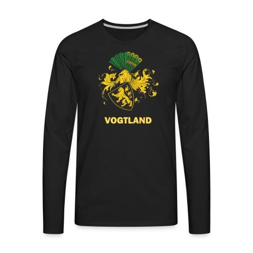 Vogtland Wappen Weida - Männer Premium Langarmshirt