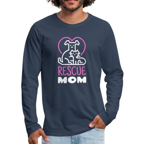 Rescue Mom - Miesten premium pitkähihainen t-paita