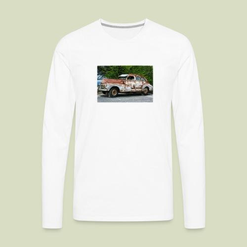 RustyCar - Miesten premium pitkähihainen t-paita