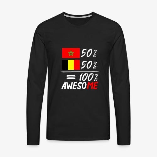 50%Marokko 50% Belgien - Männer Premium Langarmshirt