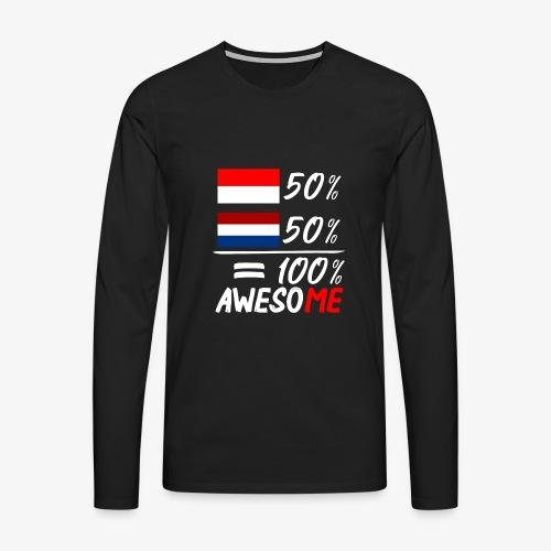 50% Nederland 50% Indonesië - Männer Premium Langarmshirt