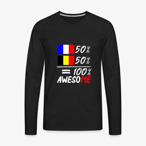 50% Frankreich 50% Belgien - Männer Premium Langarmshirt