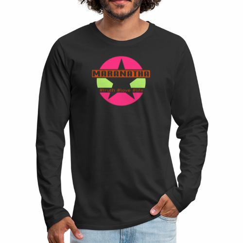maranatha rosa-grün - Männer Premium Langarmshirt