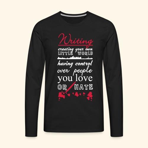 Writing - Men's Premium Longsleeve Shirt