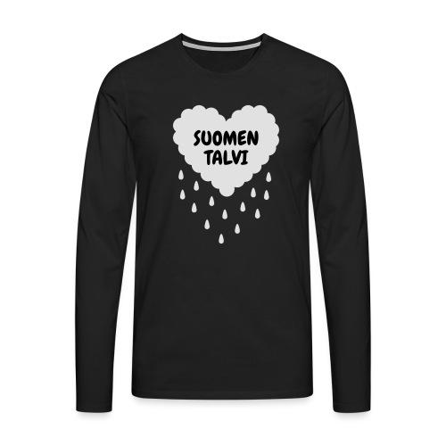 Suomen talvi - Miesten premium pitkähihainen t-paita