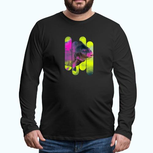 Neon colors fish - Men's Premium Longsleeve Shirt