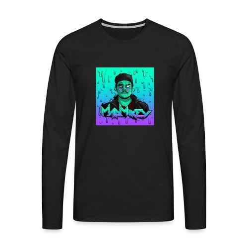MadMikey Grime Art Sticky Green - Mannen Premium shirt met lange mouwen