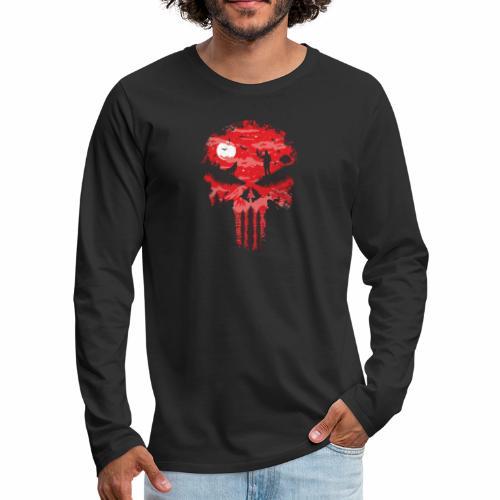 Night Skull - Miesten premium pitkähihainen t-paita