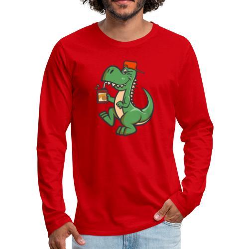 HEMI THE DINOSAUR - Miesten premium pitkähihainen t-paita