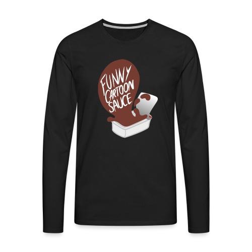 FUNNY CARTOON SAUCE - FEMALE - Men's Premium Longsleeve Shirt