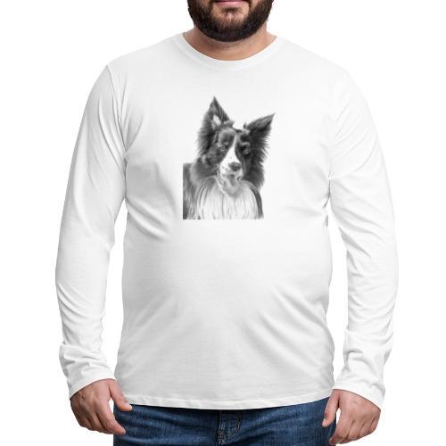 border collie 3 - Herre premium T-shirt med lange ærmer