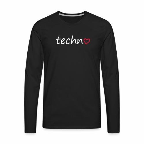 Techno Liebe PLUR Herz Raving Floorliebe Club - Männer Premium Langarmshirt