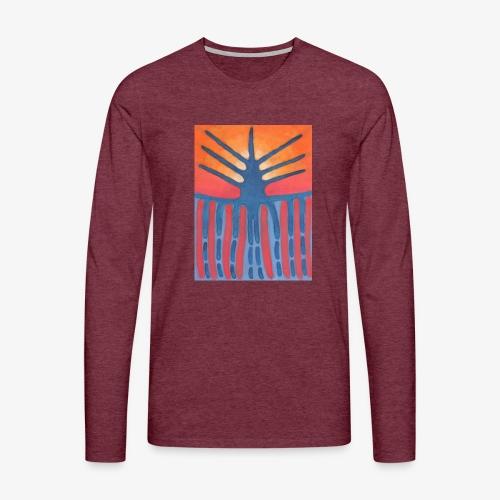 drzewo prehistoryczne 1 - Koszulka męska Premium z długim rękawem