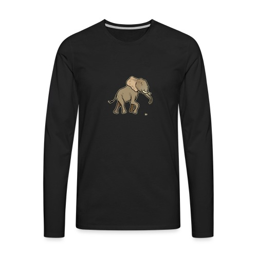 African Elephant (black edition) - Men's Premium Longsleeve Shirt