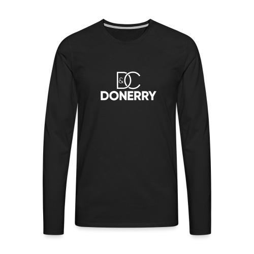 DONERRY New White Logo on Dark - Men's Premium Longsleeve Shirt
