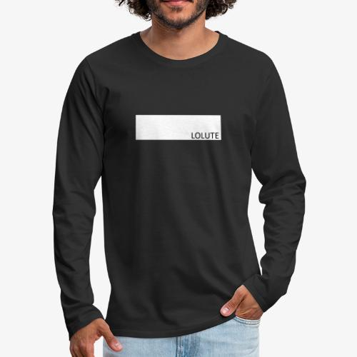 LOLUTE - Långärmad premium-T-shirt herr