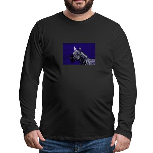 blue zebra - Men's Premium Longsleeve Shirt