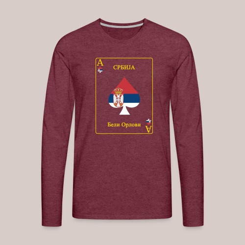Serbien - Männer Premium Langarmshirt