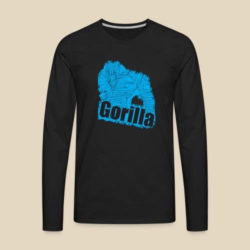 Blue Gorilla - T-shirt manches longues Premium Homme