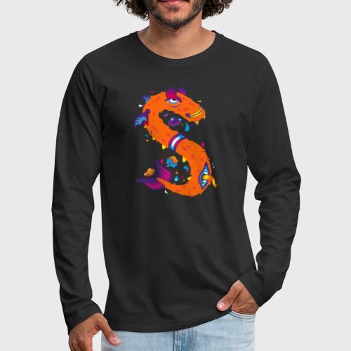Lettre S comme Snake - T-shirt manches longues Premium Homme