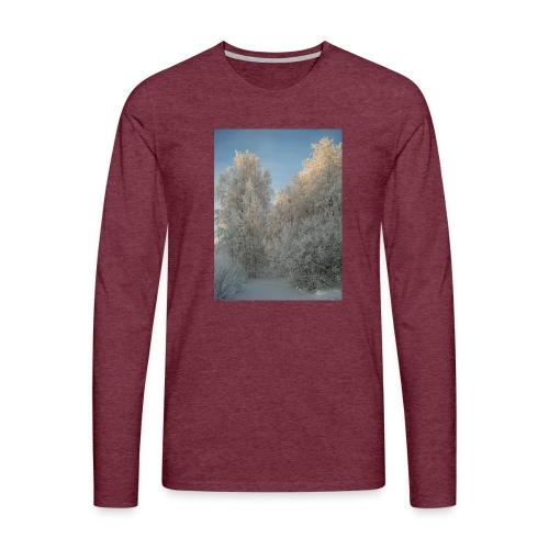Talviset puut - Miesten premium pitkähihainen t-paita