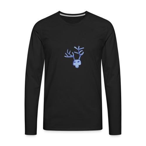 Jelen - Koszulka męska Premium z długim rękawem